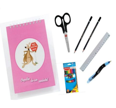 Kit Escolar para Canhotos Infantil 3
