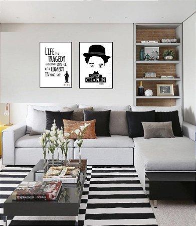 Conjunto de Pôsteres Charlie Chaplin - Quatro Lados (1)
