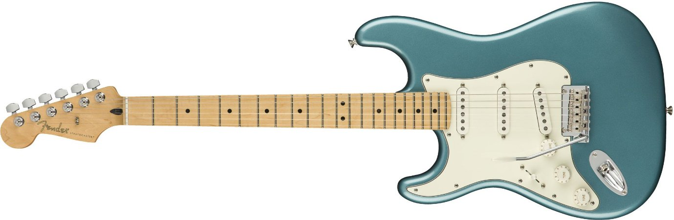 Guitarra para Canhotos FENDER 014 4512 - Player Stratocaster LH MN - 513 - Tidepool