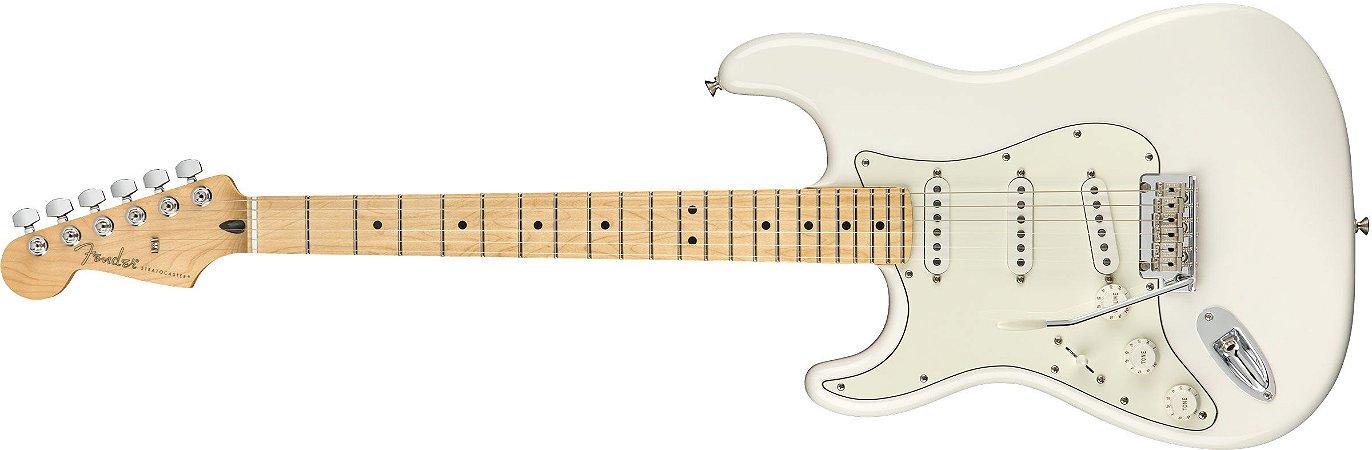 Guitarra para Canhotos FENDER 014 4512 - Player Stratocaster LH MN - 515 - Polar White