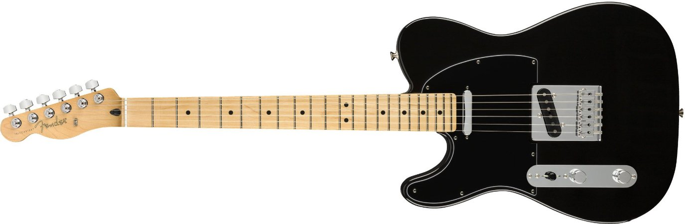 Guitarra para Canhotos FENDER 014 5222 - Player Telecaster LH MN - 506 - Black