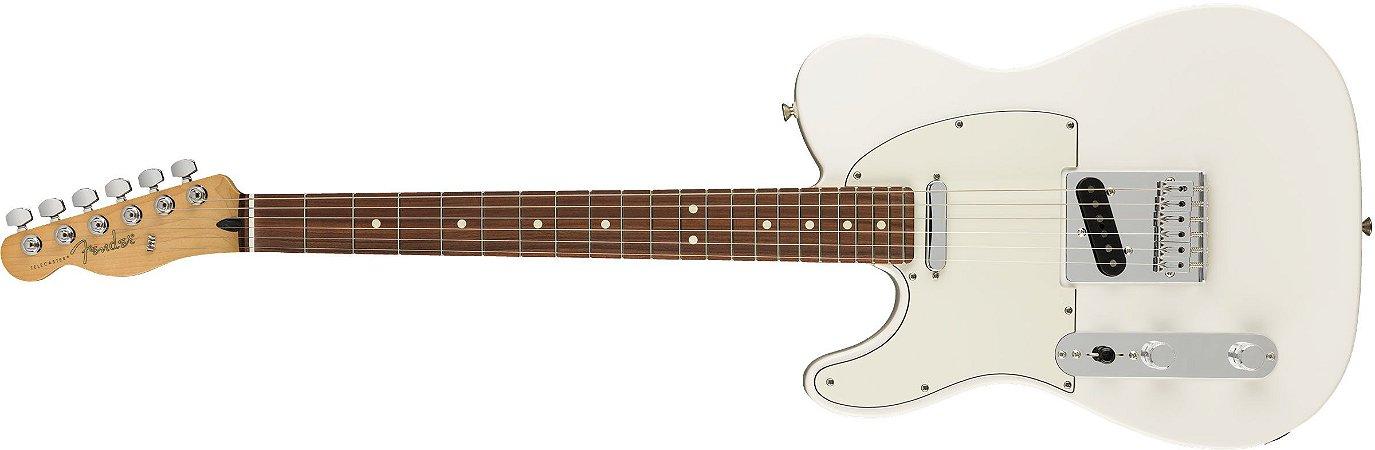 Guitarra para Canhotos FENDER 014 5223 - Player Telecaster LH PF - 515 - Polar White