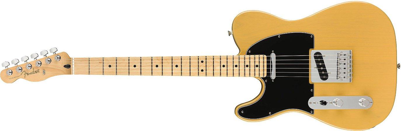 Guitarra para Canhotos Fender 014 5222 - Player Telecaster LH MN - 550 - Butterscotch Blonde