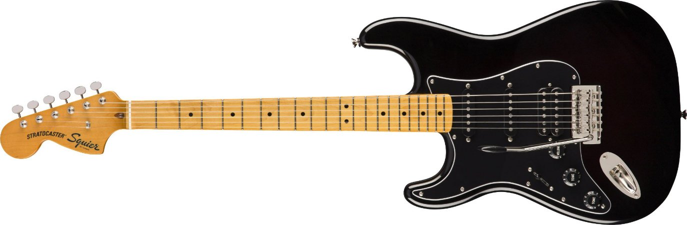 Guitarra para Canhotos Fender 037 4026 - Squier Classic Vibe 70S Stratocaster HSS LH MN - 506 - Black