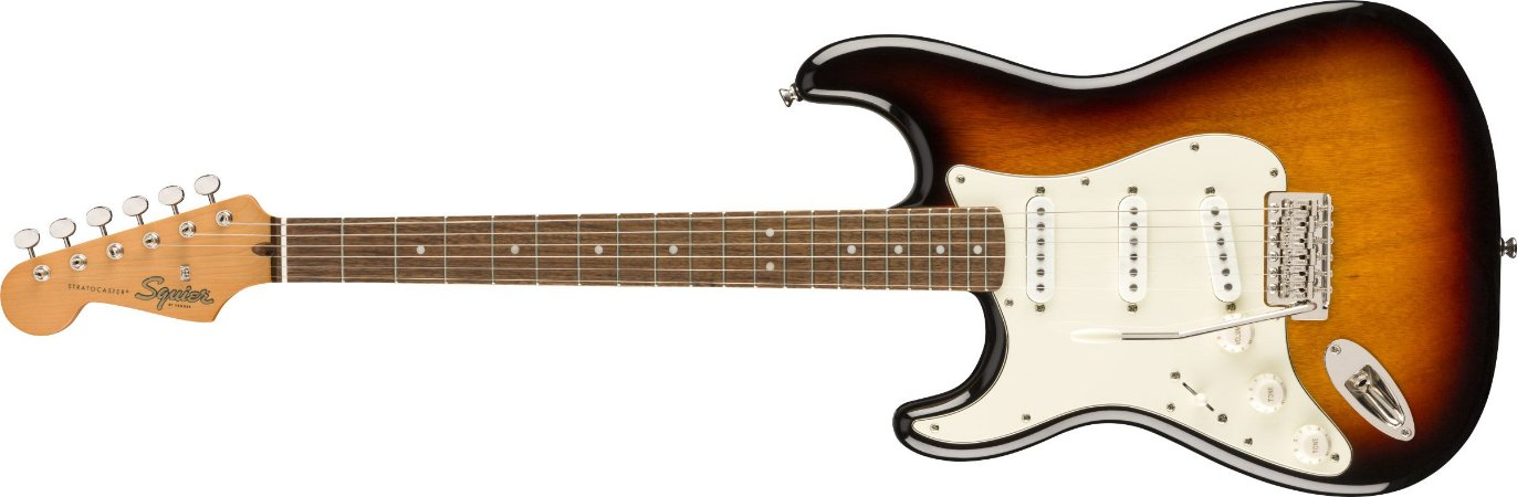 Guitarra para Canhotos Fender 037 4015 - Squier ClassicVibe 60S Stratocaster LH LRL - 500 - 3-Color Sunburst