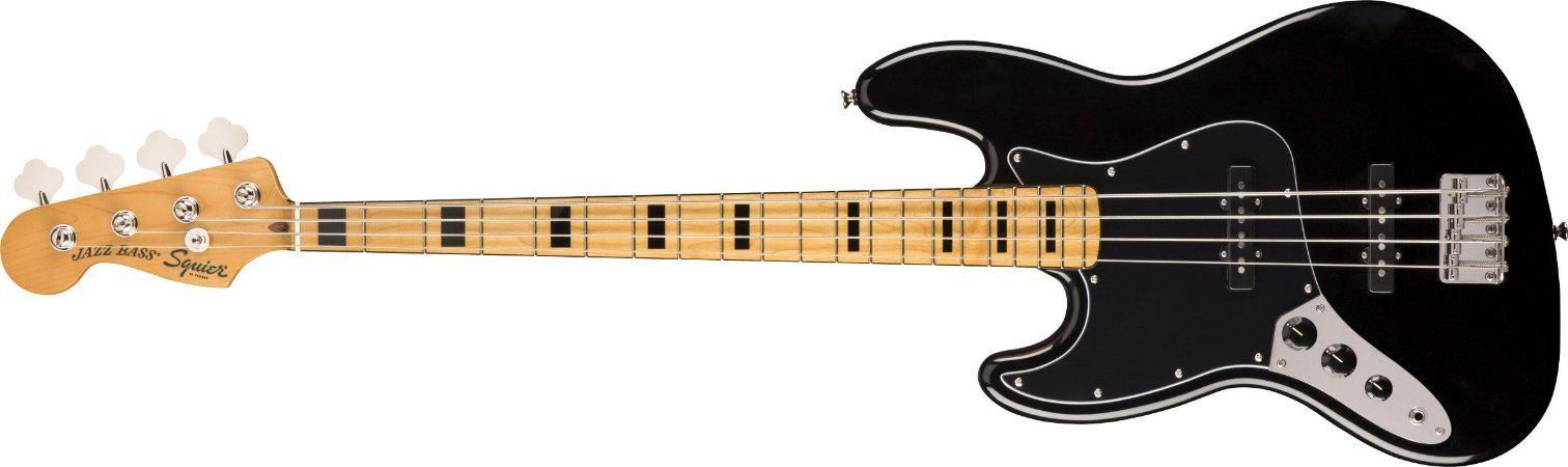 Contrabaixo para Canhotos FENDER 037 4545 - Squier Classic Vibe 70S Jazz Bass LH MN - 506 - Black