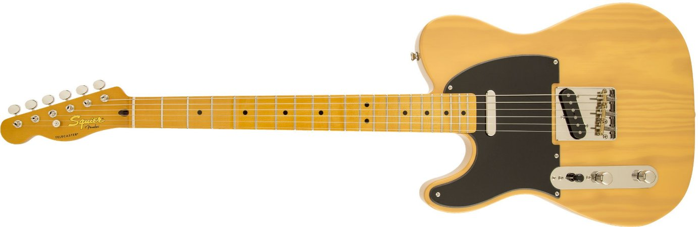 Guitarra para Canhotos FENDER 030 3029 - Squier Classic Vibe Telecaster 50S LH - 550 - Butterscotch Blonde