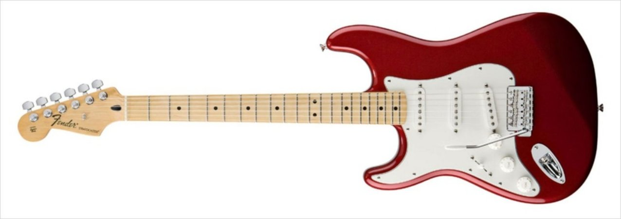 Guitarra para Canhotos FENDER 014 4622 - Standard Stratocaster LH - 509 - Candy Apple Red