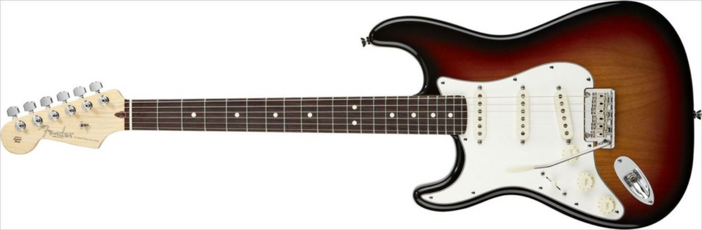 Guitarra para Canhotos FENDER 011 3020 - AM Standard Stratocaster LH RW - 700 - 3 - Color Sunburst