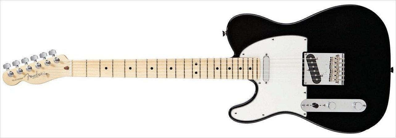 Guitarra para Canhotos FENDER 011 3222 - AM Standard Telecaster LH MN - 706 - Black