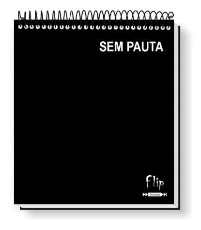 Caderno Flip Neutro Sem Pauta 80 FLS (1 MATÉRIA)