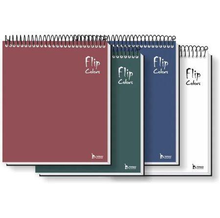 Caderno Flip Neutro Colors 80 FLS (1 MATÉRIA)