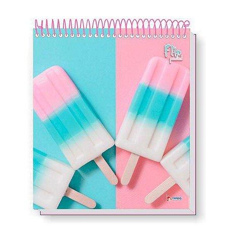 Caderno Flip Pastel 160 FLS (10 MATÉRIAS) Mod. 2