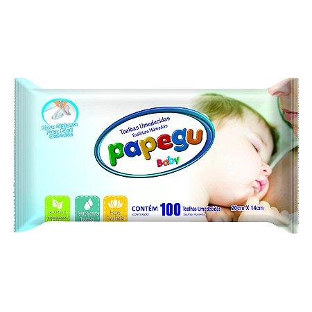 Toalhinha Umedecida Papegu Baby 100 Unidades - 1 Pacote