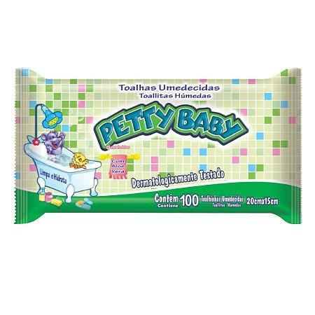 Toalhinha Umedecida Petty Baby 100 Unidades - 1  Pacote