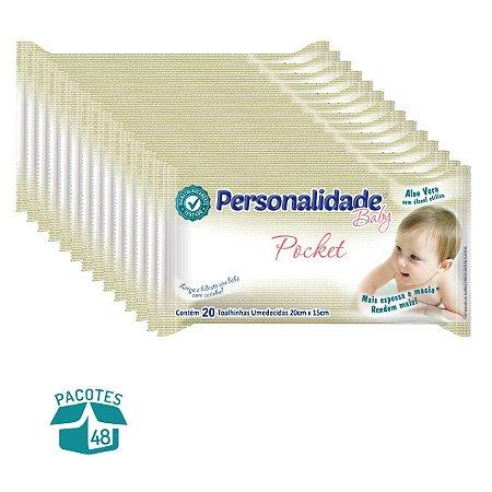 Toalhinha Umedecida Personalidade Pocket 20 Unidades - 48 Pacotes