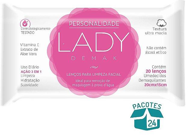 Lenços Demaquilantes Personalidade Lady Demak 20un. - 24 Pacotes