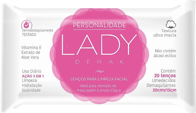 Lenços Demaquilantes Personalidade Lady Demak 20un. - 1 Pacote