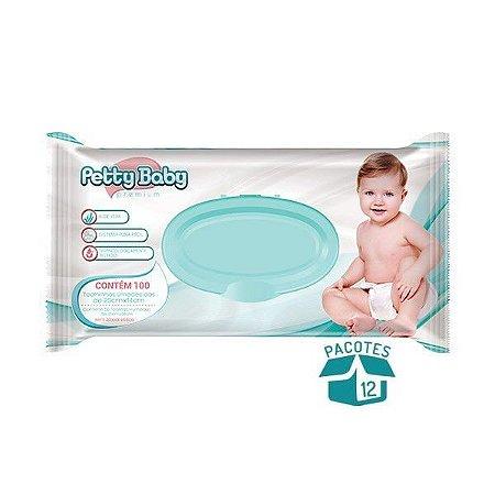 Toalhinha Umedecida Petty Baby Premium 100 Unidades - 12 Pacotes