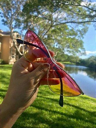 acb3b322d Óculos de Sol Feminino Retro Colorido - Guees Money Outlet