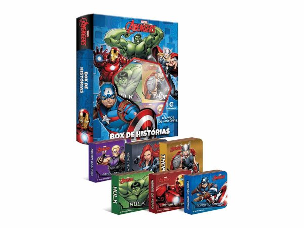 Livro Box De Historias Vingadores - c/ 6 Mini Livrinhos