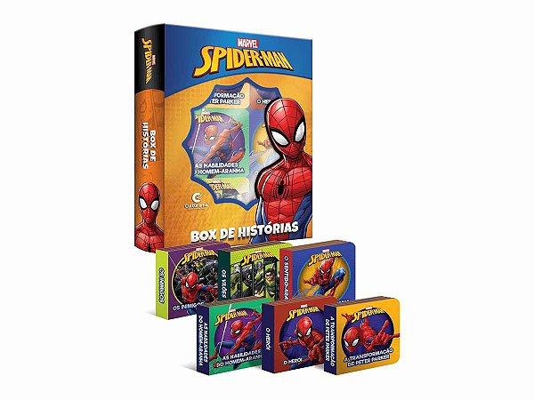 Livro Box De Historias Homem Aranha - c/ 6 Mini Livrinhos