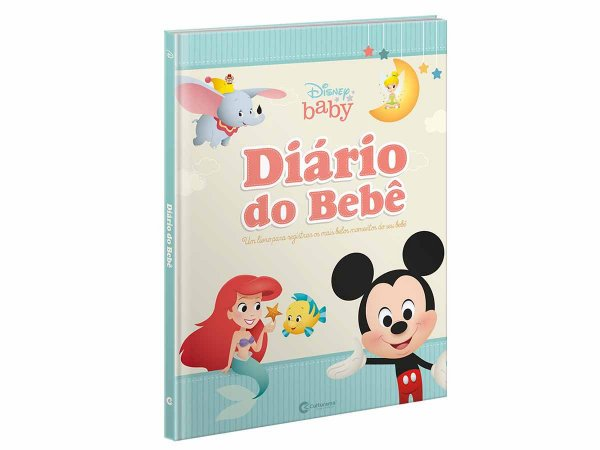 Livro Diário Bebê Anotações Álbum Disney Baby