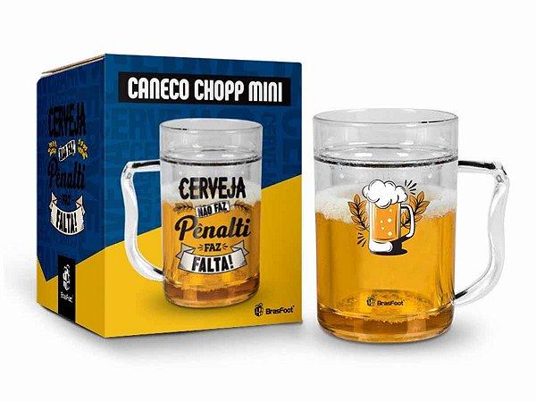 Caneca Gel Cerveja 200ml Brasfoot - Cerveja Não Faz Pênalti