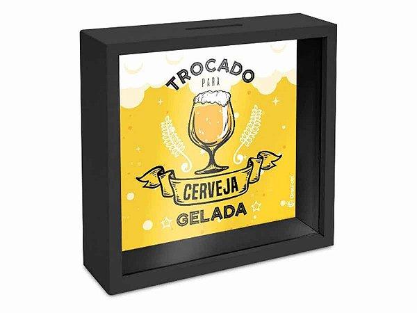 Quadro Cofre Brasfoot 18x18cm Cerveja Gelada