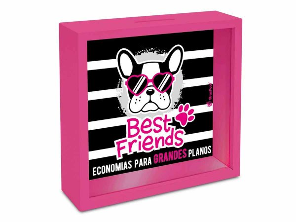 Quadro Cofre Brasfoot 18x18cm Best Friends