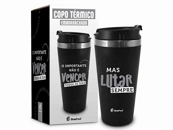 Copo Térmico Emborrachado 450ml Brasfoot Temas