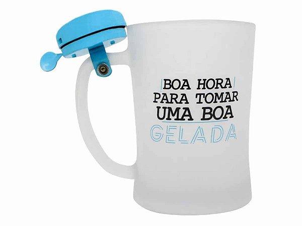 Caneca c/ Campainha 650ml Zona Criativa Boa Gelada
