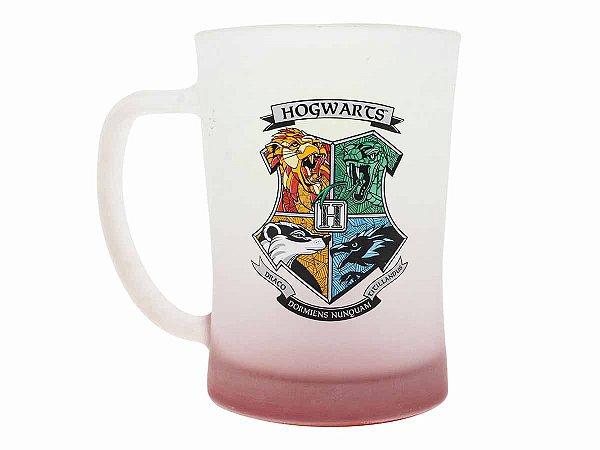 Caneca de Chopp Fosco 650ml Zona Criativa - Hogwarts Casas