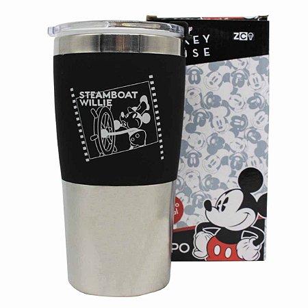 Copo Viagem Inox 450ml Max Zona Criativa - Mickey Pose