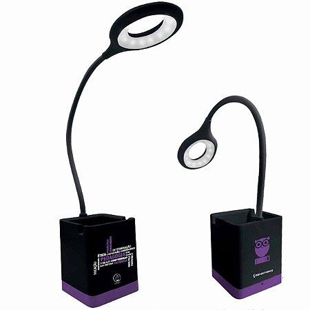 Luminária Flexível Zona Criativa Porta Lápis - Pedagogia