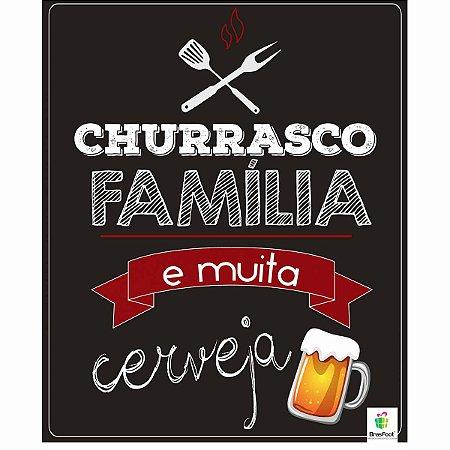 Quadro Cartão Papel MDF Brasfoot Decorativo - Churrasco