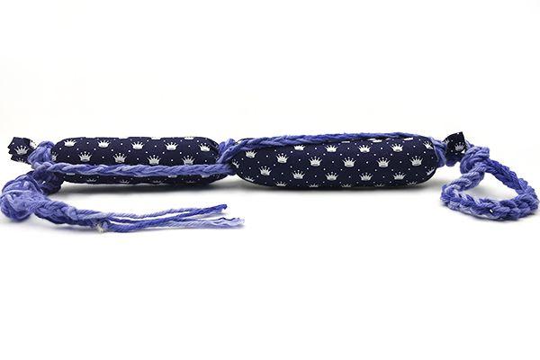 Mordedor para Cães em Algodão BooPet - Coroa Azul
