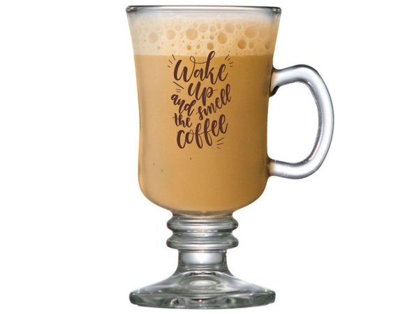 TAÇA DE VIDRO BARISTA 240ML WAKE UP