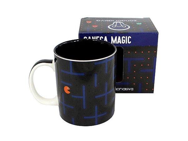 CANECA MAGIC 300ML ZONA CRIATIVA 10022370 PAC MAN PRETA