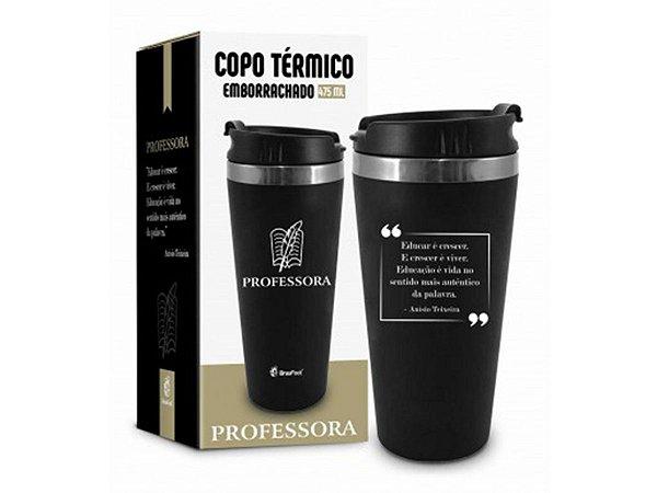 COPO TÉRMICO 450ML BRASFOOT EMBORRACHADO CURSO PROFESSORA