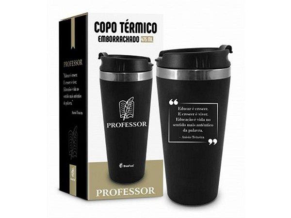COPO TÉRMICO 450ML BRASFOOT EMBORRACHADO CURSO PROFESSOR