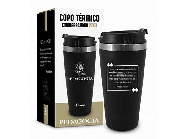COPO TÉRMICO 450ML BRASFOOT EMBORRACHADO CURSO PEDAGOGIA