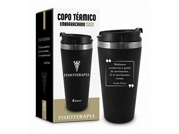 COPO TÉRMICO 450ML BRASFOOT EMBORRACHADO CURSO FISIOTERAPIA
