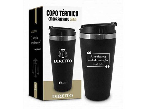 COPO TÉRMICO 450ML BRASFOOT EMBORRACHADO CURSO DIREITO