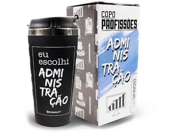 COPO TÉRMICO 450ML CASUAL GIFT EU ESCOLHI ADMINISTRAÇÃO