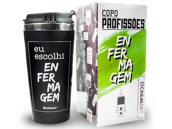 COPO TÉRMICO 450ML CASUAL GIFT EU ESCOLHI ENFERMAGEM