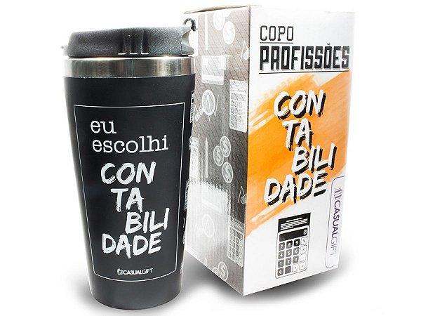 COPO TÉRMICO 450ML CASUAL GIFT EU ESCOLHI CONTABILIDADE
