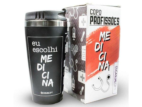 COPO TÉRMICO 450ML CASUAL GIFT EU ESCOLHI MEDICINA