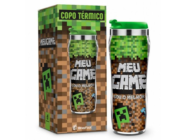 COPO TÉRMICO 450ML BRASFOOT REF.2887 MEU GAME MINE