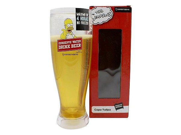 COPO TULIPA 450ML ZONA CRIATIVA THE SIMPSONS DRINK BEER